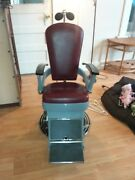 Antique Ritter Manufacturing Dentist Chair Barber Tattoo Parlor Hydraulic Lift