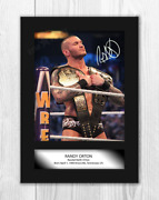 Randy Orton 1 Wwe A4 Reproduction Autograph Poster With Choice Of Frame
