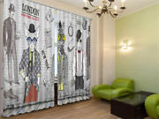 Mystery Detective 3d Blockout Photo Curtain Print Curtains Fabric Kids Window