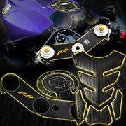 Handle Yoke+fuel Cap Sticker Cover+tank Pad 06-17 Yzf R6 Perforated/chromed Gold