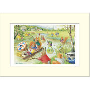 Boating On The River - Racey Helps - Medici Mounted Print