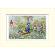 The Ferry - Racey Helps - Medici Mounted Print