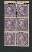 1918 Us Stamp 502b Mint F/vf Position D Plate No. 8449 Booklet Pane Of 6