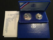 1986 Liberty Silver Dollar Proof Set - And - 1986 Us Mint Uncirculated Coin Set