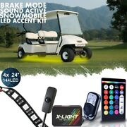 Led 4pc Custom Performance Neon Accent Lights Pod Kit For All Ezgo Ds Golf Carts