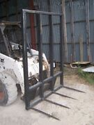 Square Bale Stacker 4 Spear W/ 48 Spears 5 Ft Wide 81 Tall