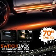 2pc 70 Inch Side Running Board Led Light Strips For Crew Cab/supercab/supercrew