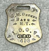 Antique Ioof I.o.o.f. Independent Order Of Odd Fellows Named Badge G.m.decker