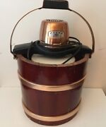 Proctor Silexelectric Ice Cream Maker Model 2267 Vintage Working With Vtg