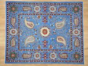 8and0392x10and0392 Handknotted Peshawar With Suzani Design Pure Wool Rug G40697