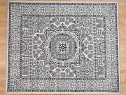 8and0393x10and039 Vintage Look Mamluk Pure Wool Natural Colors Handknotted Rug G40674