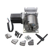 Cnc Engraving Machine Rotation Router Rotary A 4th Axis Gearbox 4 Jaw 80mm Chuck
