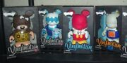 Lot 4 Le Disney Vinylmation Inner Space 9-goofyand039s Race-blue Monsters-i Love Ny