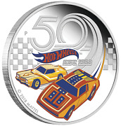 2018 50 Years Of Hot Wheels 1oz 1 Silver Proof Coin