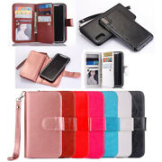 10pcs/lot Multifunctional 9-card 2 In 1 Pu Leather Case For Iphone Samsung Note8