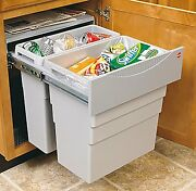 Waste Bin Pull-out By Hafele, Easy Installation,for 500 Mm Minimum Cabinet Width