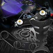 3d Handle Yoke+fuel Cap Sticker Cover+pro Tank Pad 06-17 Yzf R6 Perforated Black