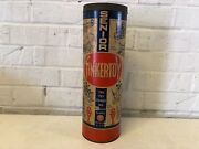 Vintage Tinkertoy Senior Construction Set With Original Canister And Wood Pieces