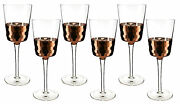 Multifaceted Copper And Crystal Wine Glass Set Of 6