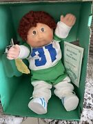 Vintage 1985 Cabbage Patch Sport Rapheal Whitney - Blue Signature