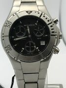 Bulova Accutron Men's Stainless Steel Case And Bracelet Black Dial Watch 26b32