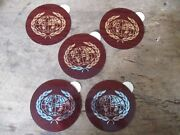 4 Red Maroon Olds Hub Cap/wheel Center Emblems Medallions Stickers Foil 4