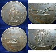 1822 Upper Canada 2 Pence Lesslie And Sons Toronto And Dundass Uc-3 High Grade
