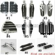 Motorcycle Male Mount Foot Pegs Non-slip Pedal For Harley Touring Chopper Bobber