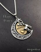 Always And Forever Harry Potter Necklace Deathly Hallows Moon Lily Snape Deer