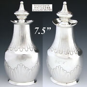 Antique And Co. Sterling Silver 7.5 Tea Caddy Or Decanter C. 1873-1891