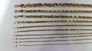 Authentic 10k Solid Yellow Gold D/c Rope Chain Necklace 1.5mm-9mm/16-30