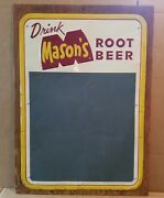 Masonand039s Old Fashioned Root Beer Metal Embossed Chalkboard Sign Stout Sign Co.