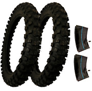 2 Pk 90/100-18 Pit Bike Tires And Tubes For Klx Crf Xr Minimoto Cross Country