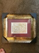 Framed Antique Map Argou From 1630. Receipt From Barry Lawrence Maps. Vg+