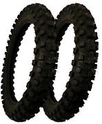 New 2 Pack Rear Tire 80/100-12 Performance Quality For Offroad Racing Dirt Bikes