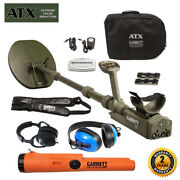 Garrett Atx Pulse Induction W/ Pro-pointer At Pinpointer And Waterproof Headphones