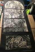 Siegfried Reinhardt Stain Glass St. John The Baptist Ink And Watercolor Design