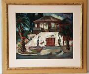Oscar Van Young Painting / Framed Oil On Panel / 24x20 / 1943 / Signed