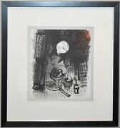 Marc Chagall 1957 Lithograph -- Brown Still Life -- Chagall By Jacques Lassaigne