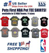 Basketball Pet Tee Shirts - Nba Licensed, Comfortable And Sporty Dogs/cats T-shirt