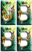 Gone Fishing Pike Lure Lake 1 Light Switch 3 Outlet Wall Plates Room Cabin Decor