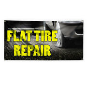 Flat Tire Repair 2 Advertising Printing Vinyl Banner Sign With Grommets