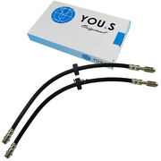 2 X You.s Brake Hoses Front Axle Left And Right For Vw Polo 6n1 6n2 1.4 16v