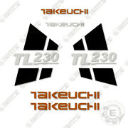 Takeuchi Tl230 Skid Steer Loader Equipment Decals