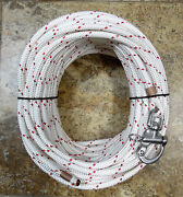 3/8 X 110 Ft. Halyard Dac./polyesterspliced In S/s Snap Shackle Red Tracer