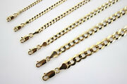 10k Authentic Solid Yellow Gold Cuban Chain For Men Women 2mm-10mm/1630