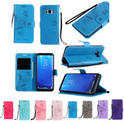 10pcs/lot Ants Butterfly Dating Wallet Flip Pu Leather Case For Iphone Samsung