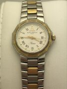 Baume And Mercier Ladies Riviera White Dial Two Tone Stainless Steel Watch 195198