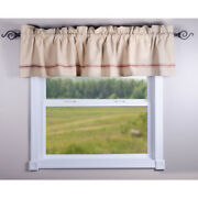New Primitive Farmhouse Vintage Striped Red Grain Feed Sack Valance Curtains