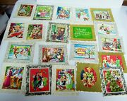 Rare 20 Vintage Christmas Cards Unused - Gay 90and039s All Different 50and039s